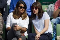 Nolwenn spectatrice à Roland Garros