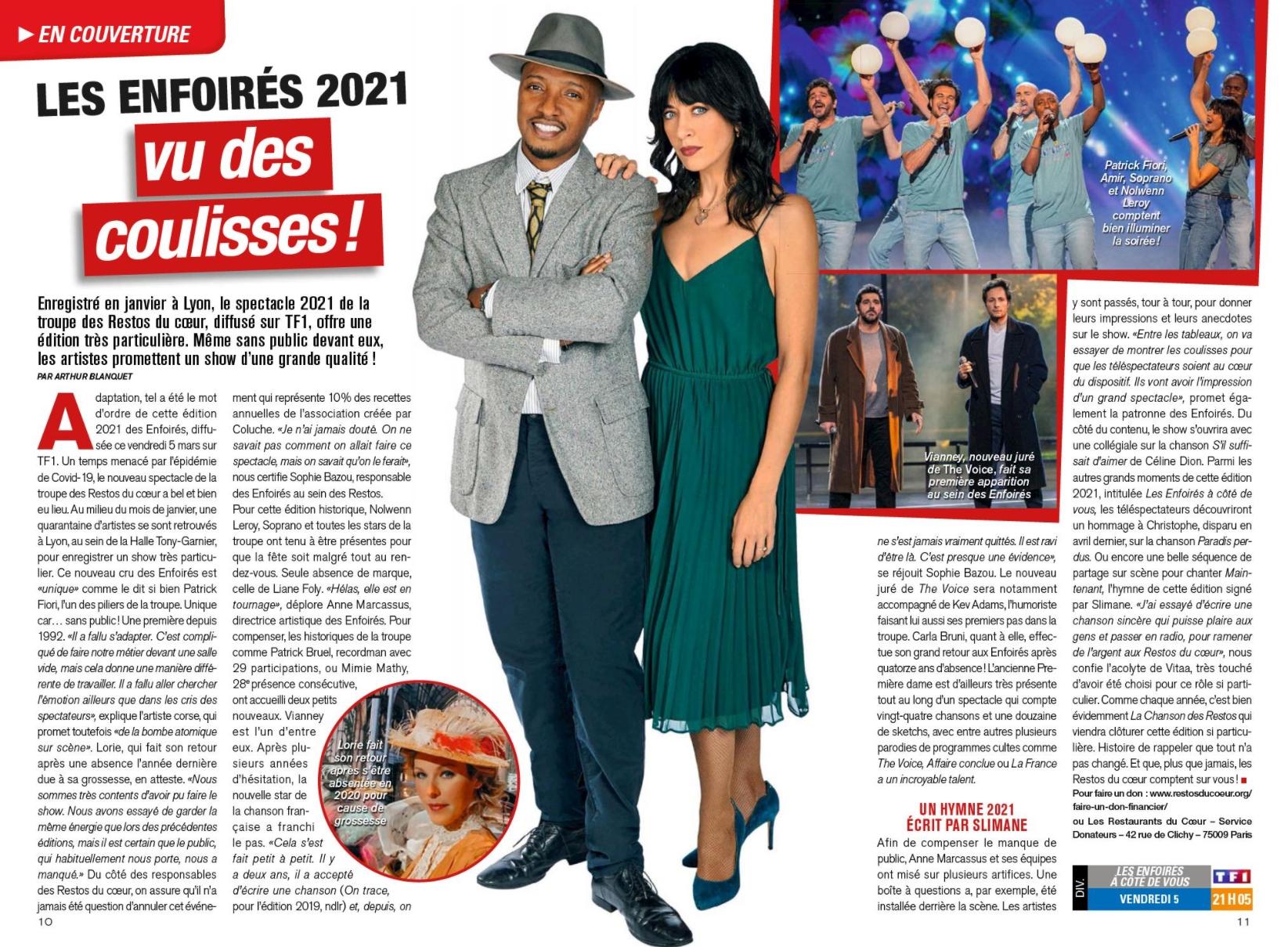 La presse des Enfoirés 2021 210217_telemagazine-02